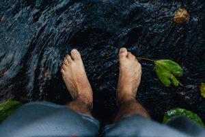 בהונות במים - איזון